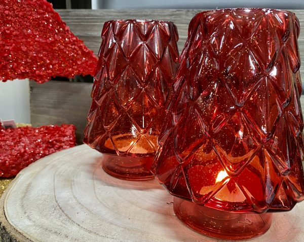 Christmas Tree Candle Holder Red 8490R