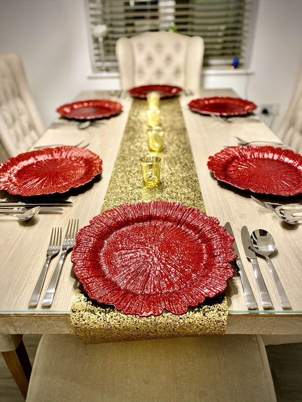 Red Snowflake Charger Plate CH005