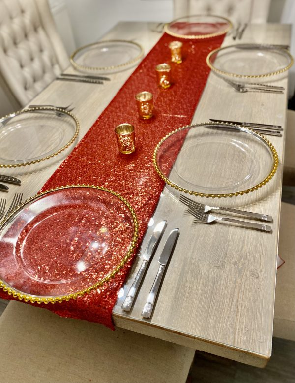 Gold Bead Charger plate CH001