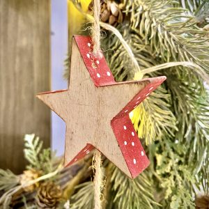 Natural Wooden Star Decoration CB4370